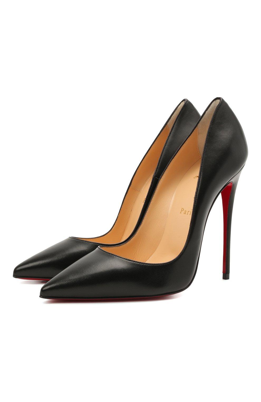 Женские кожаные туфли so kate 120 CHRISTIAN LOUBOUTIN черного цвета, арт. 3160759/S0 KATE 120   Фото 1