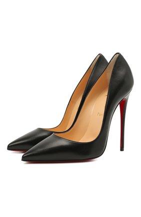 Женские кожаные туфли so kate 120 CHRISTIAN LOUBOUTIN черного цвета, арт. 3160759/S0 KATE 120 | Фото 1