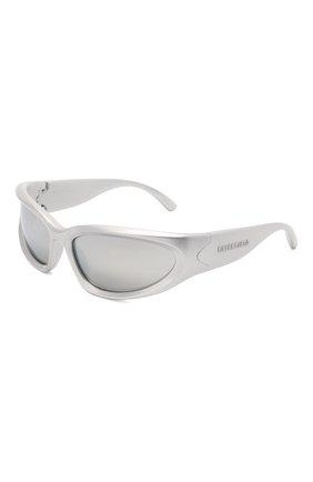 Женские солнцезащитные очки BALENCIAGA серебряного цвета, арт. 658745/T0007 | Фото 1