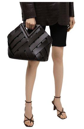 Женская сумка point basket BOTTEGA VENETA темно-коричневого цвета, арт. 658697/V0E01 | Фото 2
