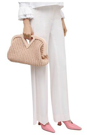 Женская сумка medium point BOTTEGA VENETA светло-розового цвета, арт. 658655/V0T21 | Фото 2