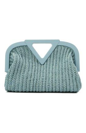 Женская сумка medium point BOTTEGA VENETA голубого цвета, арт. 658655/V0T21 | Фото 1