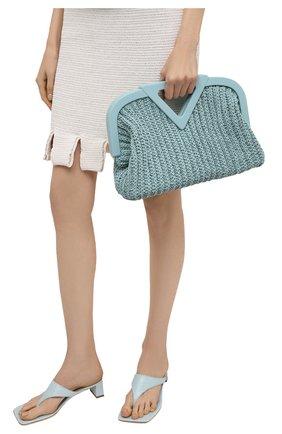 Женская сумка medium point BOTTEGA VENETA голубого цвета, арт. 658655/V0T21 | Фото 2