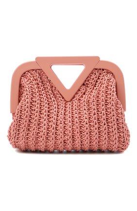 Женская сумка small point BOTTEGA VENETA светло-розового цвета, арт. 658654/V0T21 | Фото 1