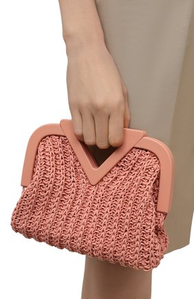 Женская сумка small point BOTTEGA VENETA светло-розового цвета, арт. 658654/V0T21 | Фото 2