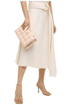 Женская сумка padded cassette BOTTEGA VENETA светло-розового цвета, арт. 591970/VCQR1 | Фото 2