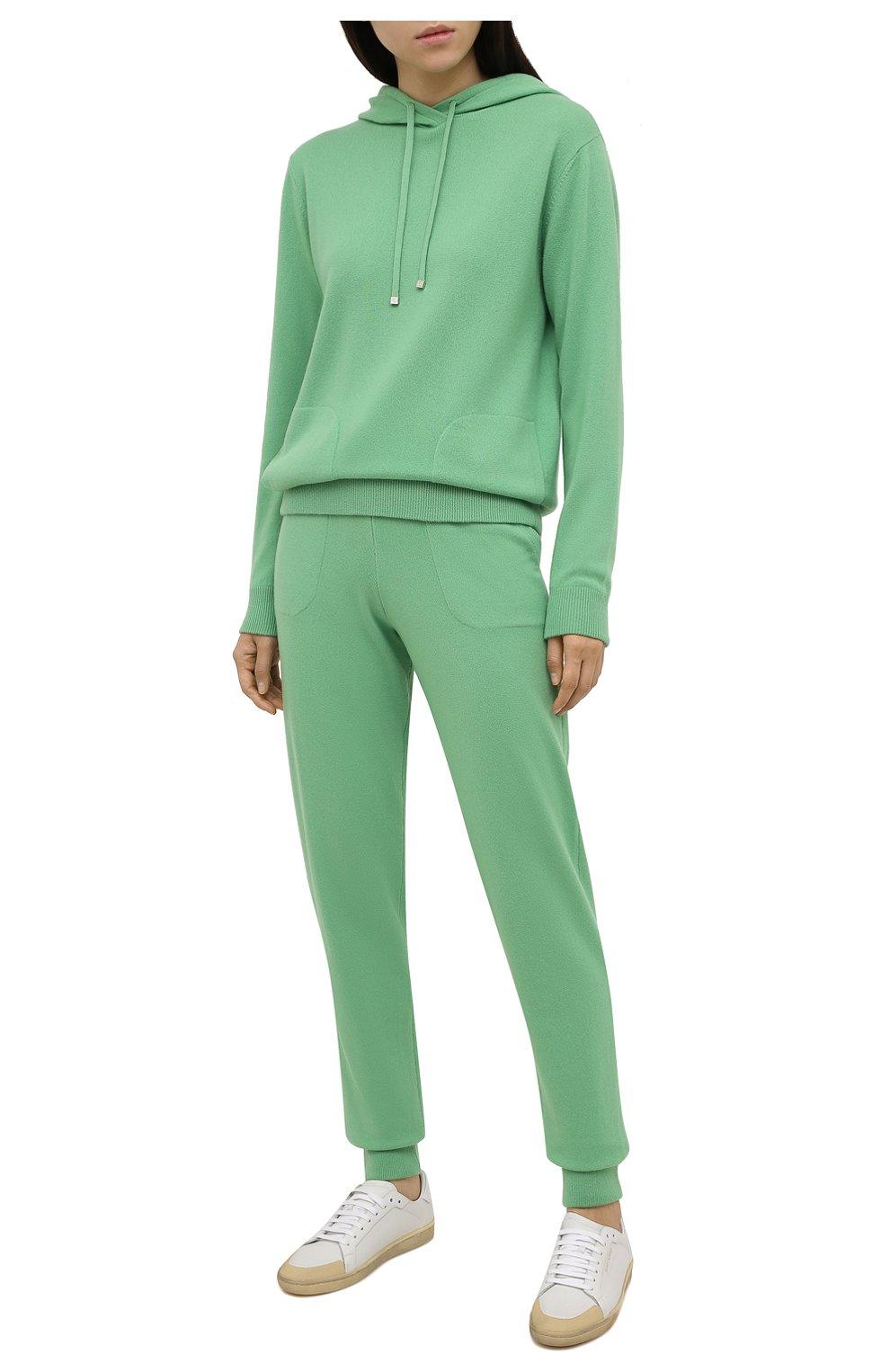 Женский кашемировое худи RALPH LAUREN зеленого цвета, арт. 290815988 | Фото 2