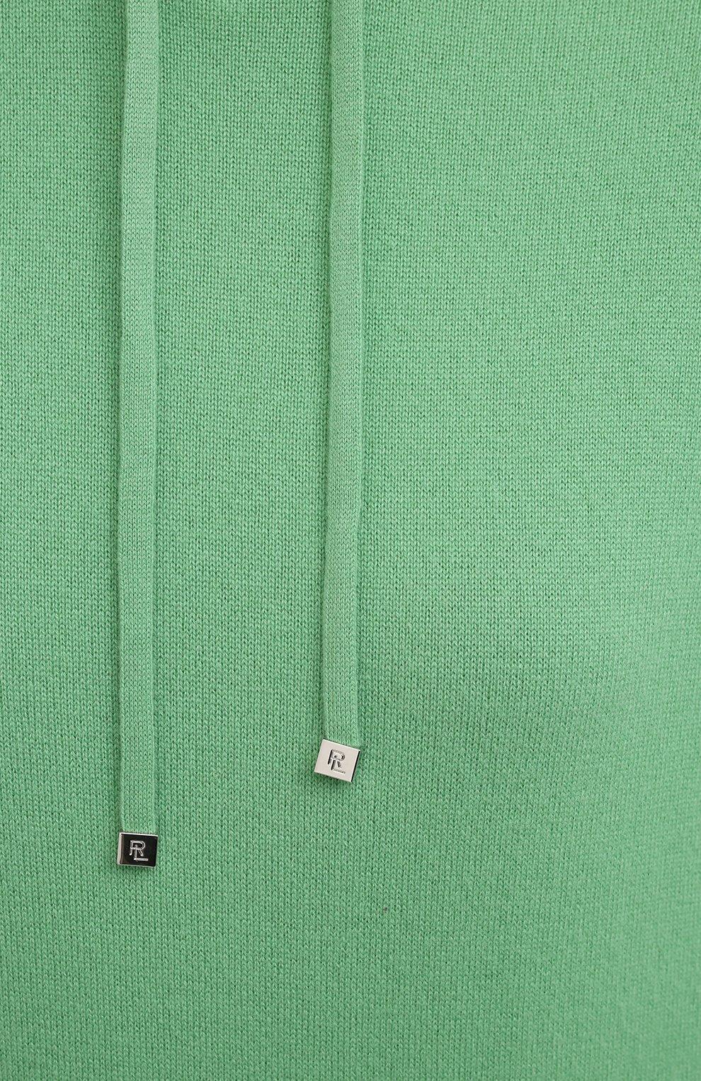 Женский кашемировое худи RALPH LAUREN зеленого цвета, арт. 290815988 | Фото 5