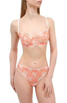 Женский бюстгальтер с мягкой чашкой SIMONEPERELE оранжевого цвета, арт. 19V330 | Фото 2