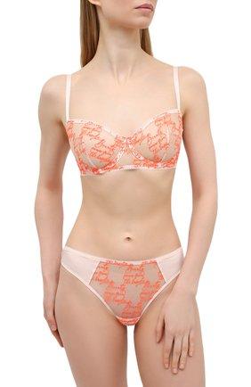 Женские трусы-слипы SIMONEPERELE оранжевого цвета, арт. 19V720 | Фото 2