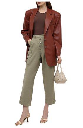 Женские хлопковые брюки TWO WOMEN IN THE WORLD хаки цвета, арт. A12CT3  Alva | Фото 2