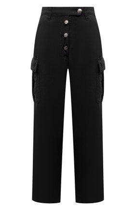 Женские хлопковые брюки TWO WOMEN IN THE WORLD черного цвета, арт. A12CT3  Alva | Фото 1