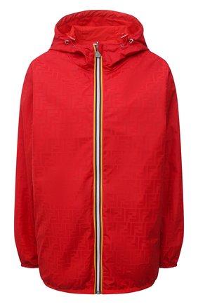 Женская куртка FENDI красного цвета, арт. FAN019 AERR   Фото 1
