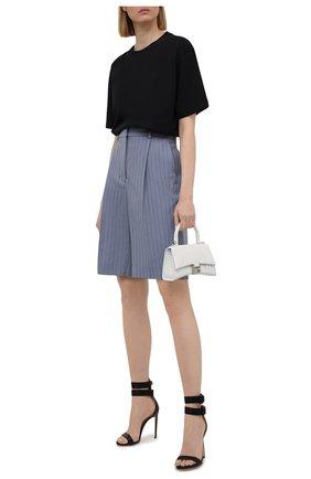Женские кожаные босоножки DSQUARED2 черного цвета, арт. HSW0167 01500001 | Фото 2