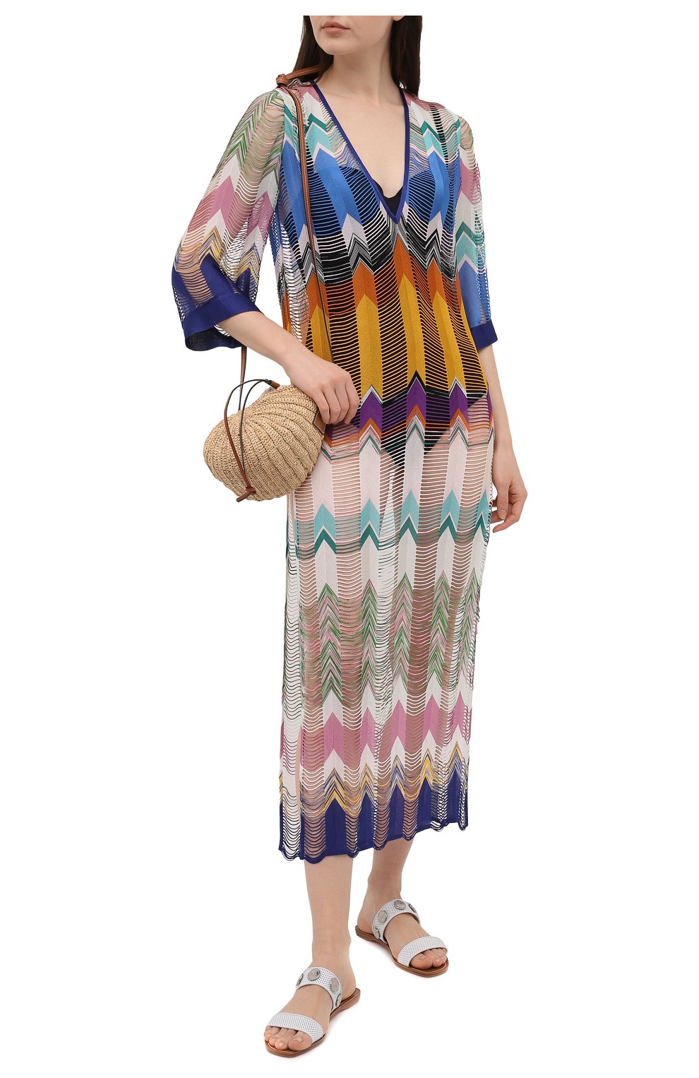 Женская туника из вискозы MISSONI разноцветного цвета, арт. MMQ00025/BR00E5   Фото 2