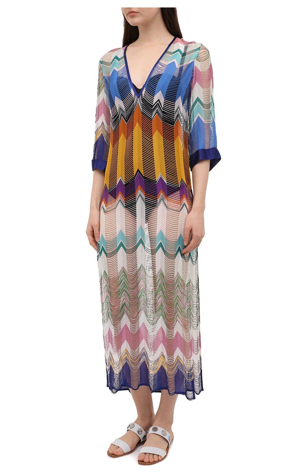 Женская туника из вискозы MISSONI разноцветного цвета, арт. MMQ00025/BR00E5   Фото 3