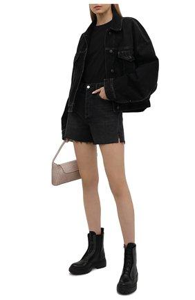 Женские кожаные ботинки BRUNELLO CUCINELLI черного цвета, арт. MZBSG2009P | Фото 2 (Материал внутренний: Натуральная кожа; Подошва: Платформа; Женское Кросс-КТ: Военные ботинки; Каблук высота: Низкий)