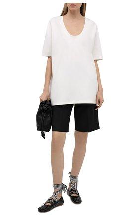 Женские кожаные балетки MIU MIU черного цвета, арт. 5F466A/H27   Фото 2