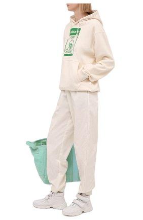 Женские кожаные кроссовки MIU MIU белого цвета, арт. 5T439D/038   Фото 2
