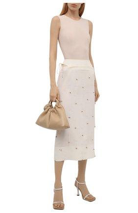 Женская льняная юбка JACQUEMUS кремвого цвета, арт. 211SK01/12711A   Фото 2