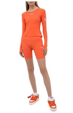 Женские шорты OFF-WHITE оранжевого цвета, арт. 0WVH009V21JER001 | Фото 2