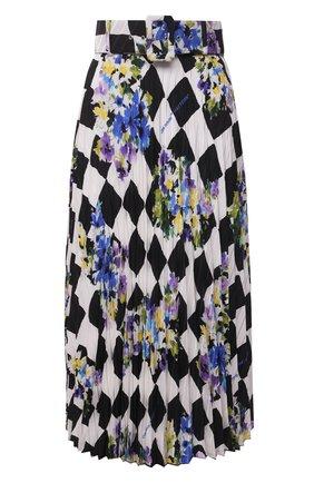 Женская плиссированная юбка OFF-WHITE разноцветного цвета, арт. 0WCC056S21FAB003 | Фото 1