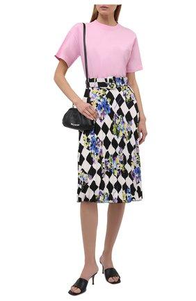 Женская плиссированная юбка OFF-WHITE разноцветного цвета, арт. 0WCC056S21FAB003 | Фото 2