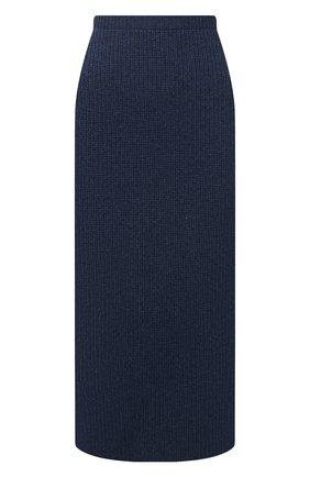 Женская кашемировая юбка LORO PIANA синего цвета, арт. FAL7531 | Фото 1