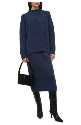 Женская кашемировая юбка LORO PIANA синего цвета, арт. FAL7531   Фото 2