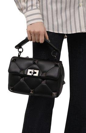 Женская сумка roman stud VALENTINO черного цвета, арт. WW2B0I82/LWB | Фото 2