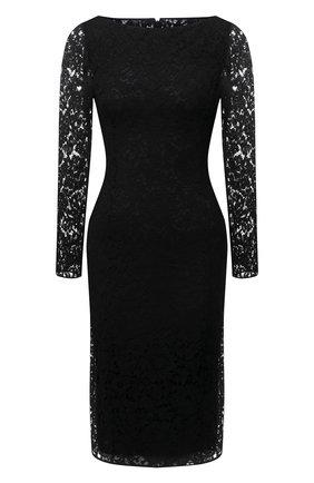 Женское платье из вискозы и хлопка VALENTINO черного цвета, арт. WB3VAW806FR | Фото 1