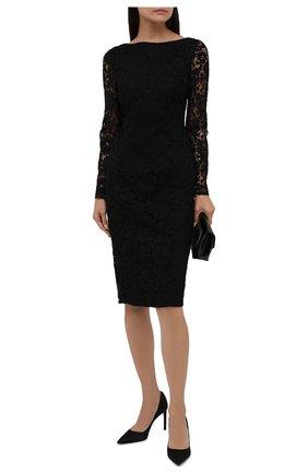 Женское платье из вискозы и хлопка VALENTINO черного цвета, арт. WB3VAW806FR | Фото 2