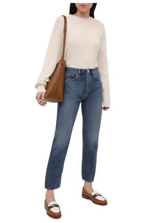 Женские кожаные лоферы finley MICHAEL MICHAEL KORS коричневого цвета, арт. 40S1FIFS4L | Фото 2