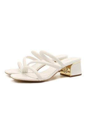 Женские кожаные мюли lana MICHAEL MICHAEL KORS белого цвета, арт. 40S1LAMP1L | Фото 1