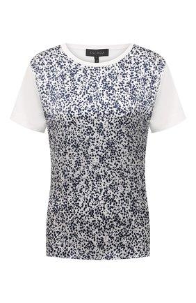 Женская футболка из  хлопка и шелка ESCADA белого цвета, арт. 5034624 | Фото 1