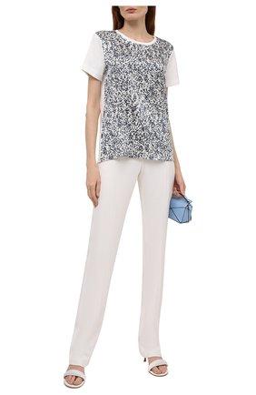 Женская футболка из  хлопка и шелка ESCADA белого цвета, арт. 5034624 | Фото 2