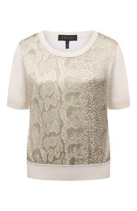Женский шерстяной пуловер ESCADA кремвого цвета, арт. 5034833 | Фото 1