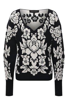 Женский пуловер из вискозы и хлопка ESCADA темно-синего цвета, арт. 5034834 | Фото 1