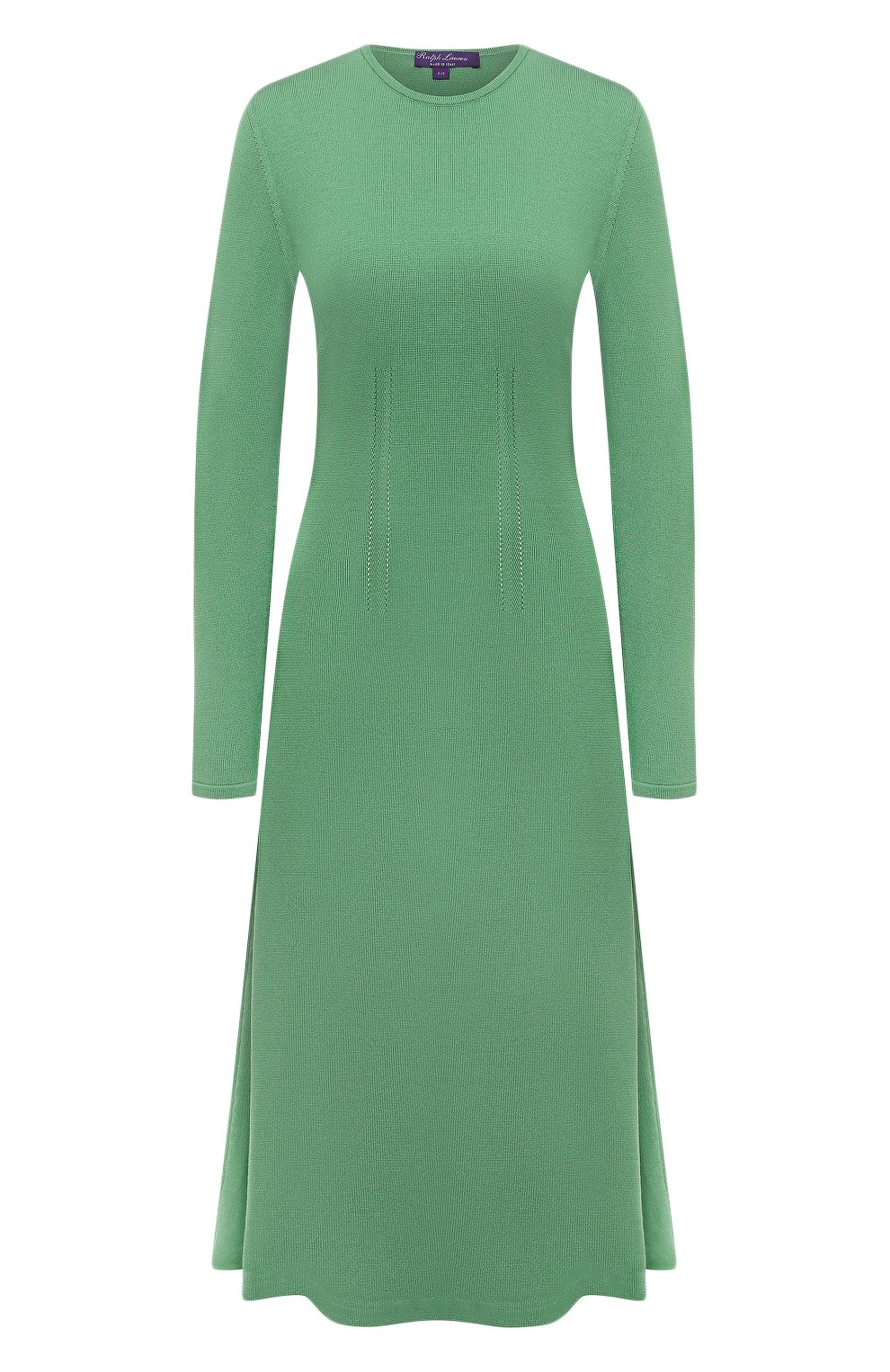 Женское шелковое платье RALPH LAUREN светло-зеленого цвета, арт. 290840679   Фото 1