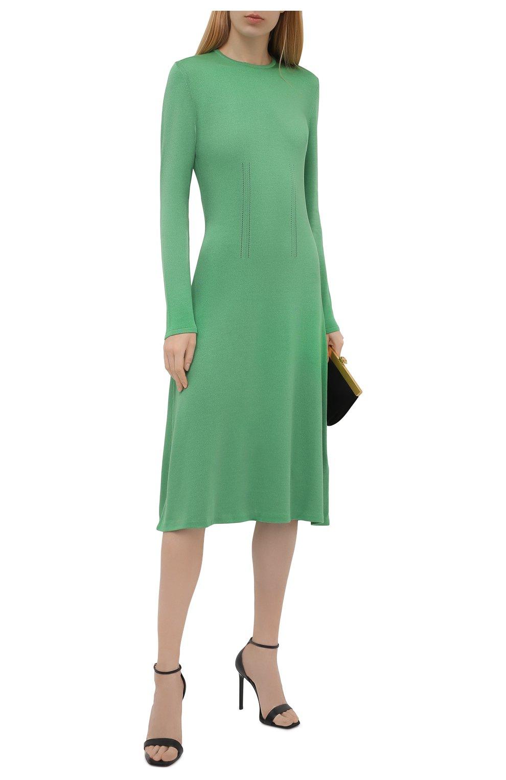 Женское шелковое платье RALPH LAUREN светло-зеленого цвета, арт. 290840679   Фото 2