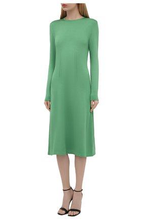 Женское шелковое платье RALPH LAUREN светло-зеленого цвета, арт. 290840679   Фото 3