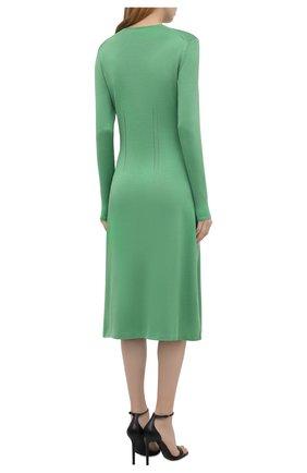 Женское шелковое платье RALPH LAUREN светло-зеленого цвета, арт. 290840679   Фото 4