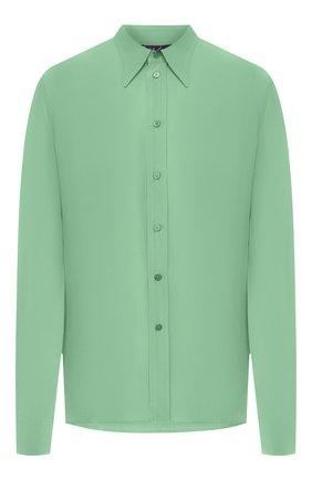 Женская шелковая рубашка RALPH LAUREN светло-зеленого цвета, арт. 290788940 | Фото 1