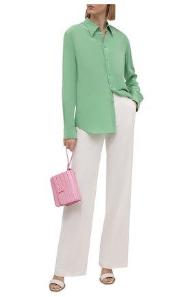 Женская шелковая рубашка RALPH LAUREN светло-зеленого цвета, арт. 290788940 | Фото 2