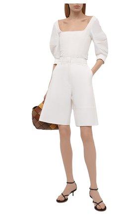 Женские кожаные босоножки dot BOTTEGA VENETA темно-коричневого цвета, арт. 659006/V0U50 | Фото 2
