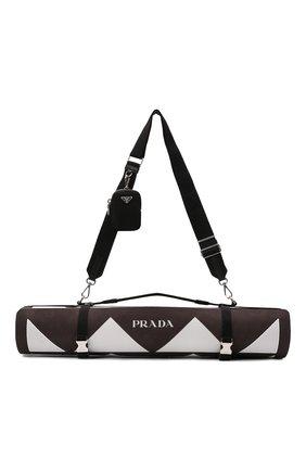 Женского коврик для йоги PRADA коричневого цвета, арт. 2XD006-2DR3-F0964   Фото 1 (Кросс-КТ: Спорт)
