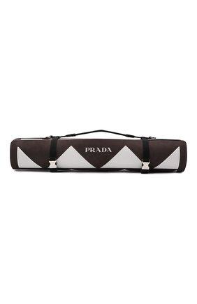 Женского коврик для йоги PRADA коричневого цвета, арт. 2XD006-2DR3-F0964   Фото 2 (Кросс-КТ: Спорт)
