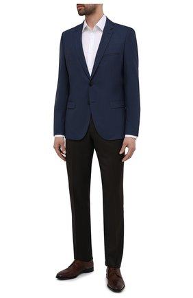 Мужской шерстяной пиджак HUGO темно-синего цвета, арт. 50454269 | Фото 2