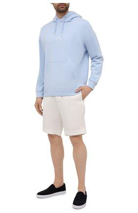 Мужские замшевые слипоны BOSS темно-синего цвета, арт. 50454969 | Фото 2