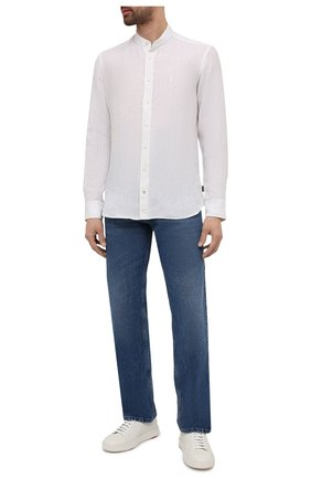 Мужская льняная рубашка BOGNER белого цвета, арт. 58846692 | Фото 2